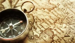 voyage carte boussole