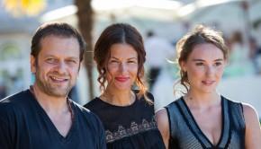 Stéphanie Pillonca-Kervern, Déborah François et Jonathan Zaccaï au festival d'Angoulême pour le film Fleur de Tonnerre
